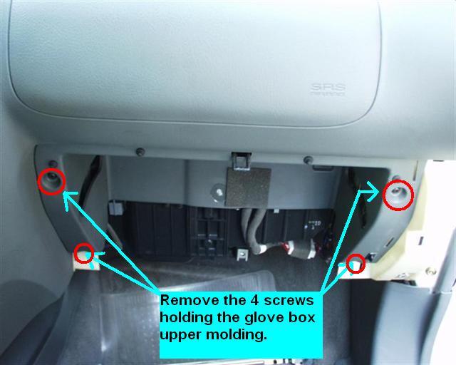 Service Manual Remove Glove Box On A 2006 Hyundai Sonata